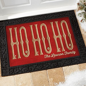 Personalized Christmas Doormat - Ho Ho Ho - 15970