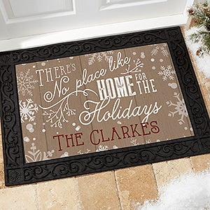 Personalized Holiday Doormats   No Place Like Home   15971