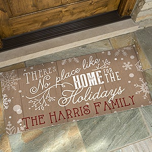 Personalized Holiday Doormats - No Place Like Home - 15971