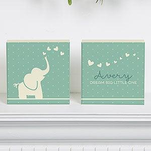 Personalized Baby Nursery Shelf Blocks Set Of 2 - Baby Zoo Animals - 15972