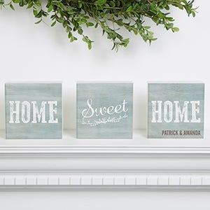 Personalized Shelf Blocks Set Of 3 - Home Sweet Home - 15973
