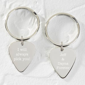 Personalized Guitar Pick Keychain - I Pick You - 15979