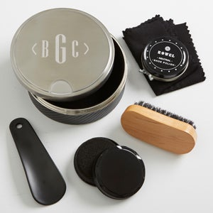 Premium Shoe Shine Gift Set - Men's Monogram - 15985