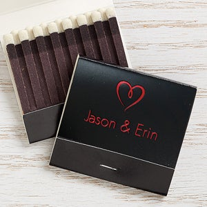 Personalized 30-Strike Matches - Wedding And Anniversary - 15986D
