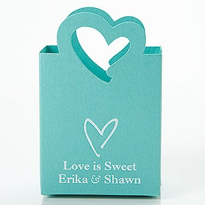 Wedding & Bridal Shower Personalized Mini Tote Favor Boxes - 15988D