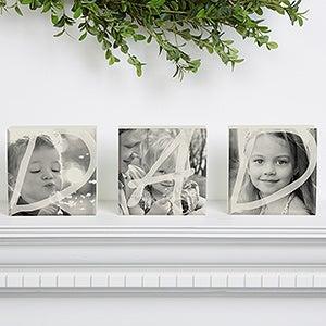 DAD Personalized Photo Shelf Blocks