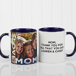 personalized photo coffee mugs for her blue loving them for her