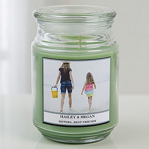 Personalized Photo Scented Glass Candle Jar - Picture Perfect - 16001