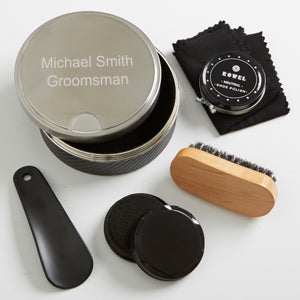 Personalized Wedding Shoe Shine Gift Set - Groomsmen - 16005