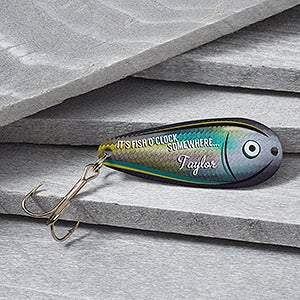 Personalized Fishing Lures - Fish O'Clock - 16013