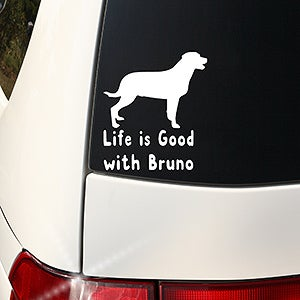 Personalized Window Decal - I Love My Pet - 16017