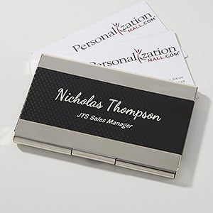 contemporary black silver personalized business card case on sale today - Business Cards For Sale