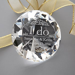 Engraved ENgagement Diamond Keepsake - I Do - 16043