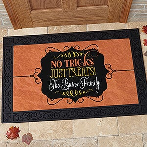 Personalized Halloween Doormats - No Tricks, Just Treats - 16047