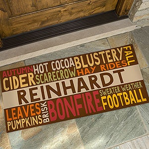 Personalized Fall Doormat Fall Fun Oversized For The