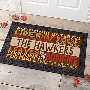 Personalized Fall Doormat - Fall Fun - 16048
