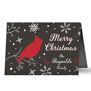 Personalized Christmas Cards - Wintertime Wishes - 16094