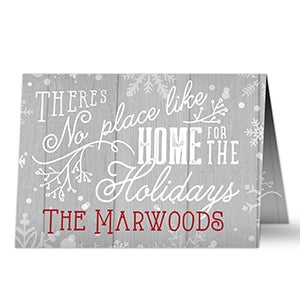 Personalized Christmas Cards - No Place Like Home - 16095