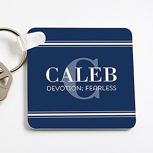Personalized Name Meaning Keyring for Him - 16096