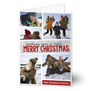 Personalized Christmas Greeting Card - Holiday Photo Collage - 16097