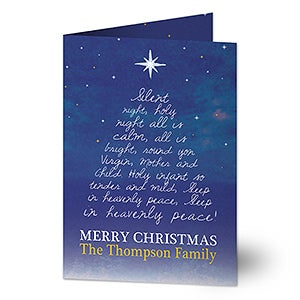Personalized Christmas Cards - Silent Night - 16098