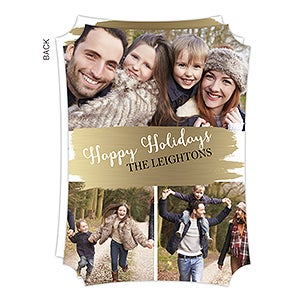 buy photo collage christmas cards with a holiday glam design add 3 photos and text choose from 5 edge options and glossy or matte finish - Collage Christmas Cards
