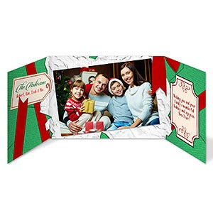 Personalized Gatefold Christmas Cards - Christmas Gift - 16111