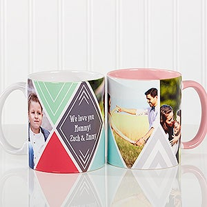 Personalized Photo Coffee Mug - 3 Photo Diamond - 16113