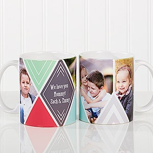 Personalized Photo Coffee Mug - 3 Photo Diamond - 16113