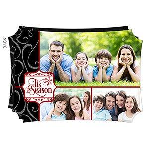 Personalized Christmas Flat Card - 'Tis The Season - 16121