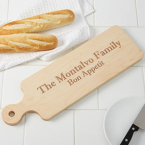 Personalized Maple Leaf Artisan Bread Board - 16125D