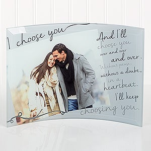 Personalized Romantic Photo Curved Glass - I Choose You - 16145
