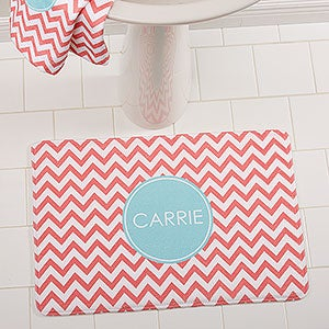 Monogrammed Bath Mats - 4 Preppy Chic Designs - 16153