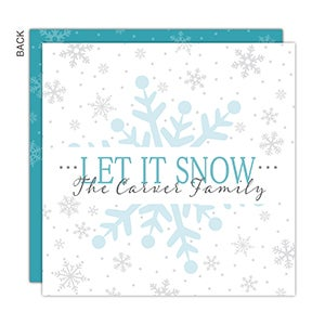 Personalized Christmas Cards - Snowy Christmas - 16154