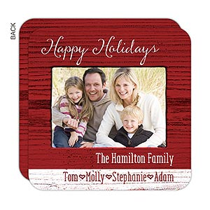 Personalized Rustic Holiday Photo Cards - Family Love - 16161