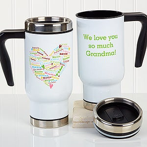 Personalized Commuter Mug - Heart Of Love - 16165