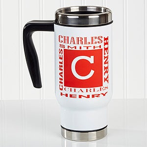 Personalized Commuter Travel Mug - You Name It - 16168