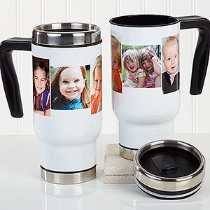 Personalized Commuter Travel Mug - Photo Collage - 16173
