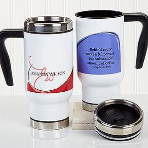 Personalized Commuter Travel Mug - My Monogram - 16175