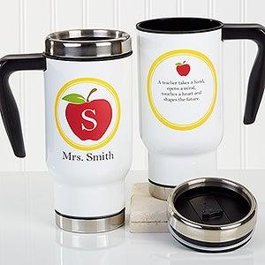 Personalized Commuter Travel Mug - Teachers Inspire - 16180