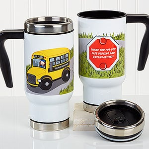 Personalized Commuter Travel Mug - Bus Driver Character - 16182