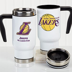 Personalized NBA Basketball Team Travel Mugs - 16186