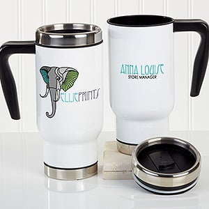Corporate Custom Logo Personalized Travel Mugs - 16187