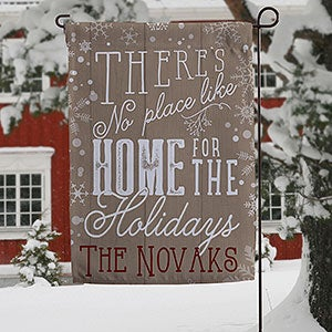 Personalized Christmas Garden Flag - No Place Like Home - 16191