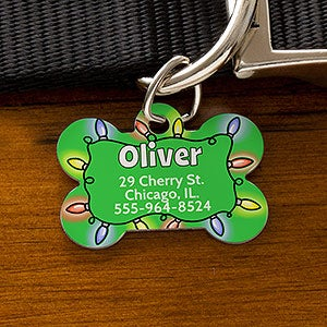 Personalized Christmas Dog ID Tag - 16194