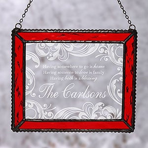 Personalized Christmas Suncatcher - Christmas Blessings - 16197