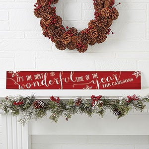 Christmas Quotes Personalized Wood Holiday Sign - 16212