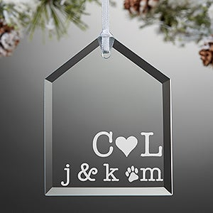 Personalized Family Glass Ornament - Family Initials
