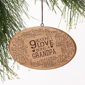 Personalized Wood Ornament - Reasons Why For Him - 16227