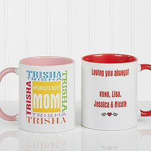 World's Best Mom Personalized Coffee Mug - 1623